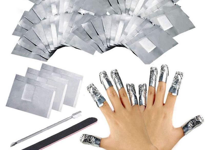 Fogli di Alluminio per Rimuovere lo Smalto